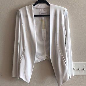 BCBG White Asymmetrical Blazer